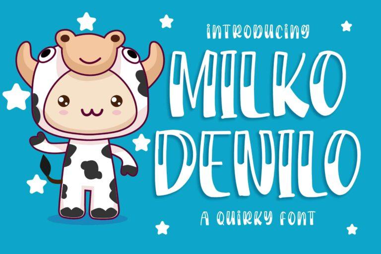 Preview image of Milko Denilo Font