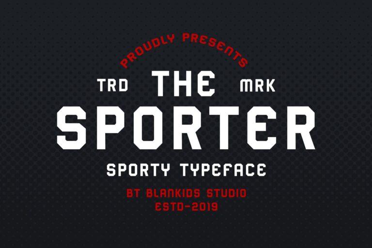 Sporter Font