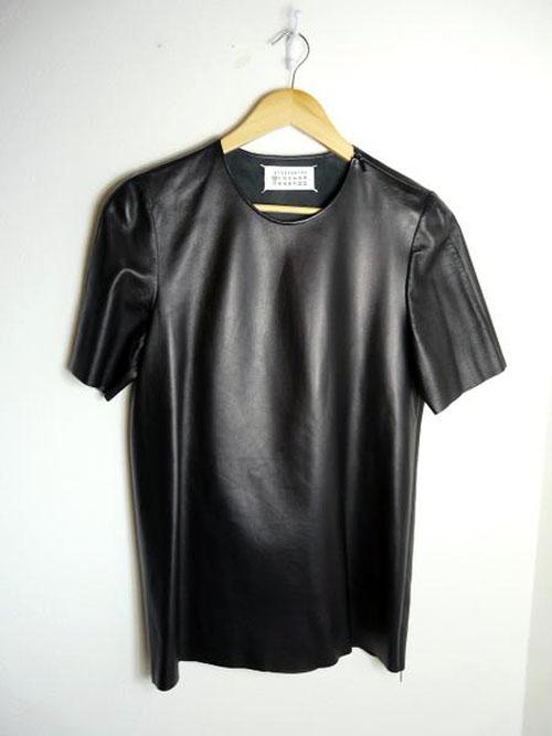 Maison Martin Margiela 10 Mens Leather TShirt  BLANKMODE