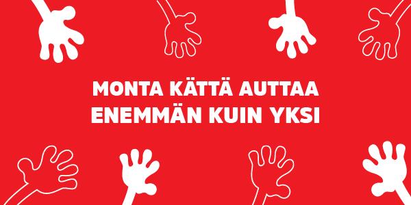 monta kättä autttaa enemmän kuin yksi