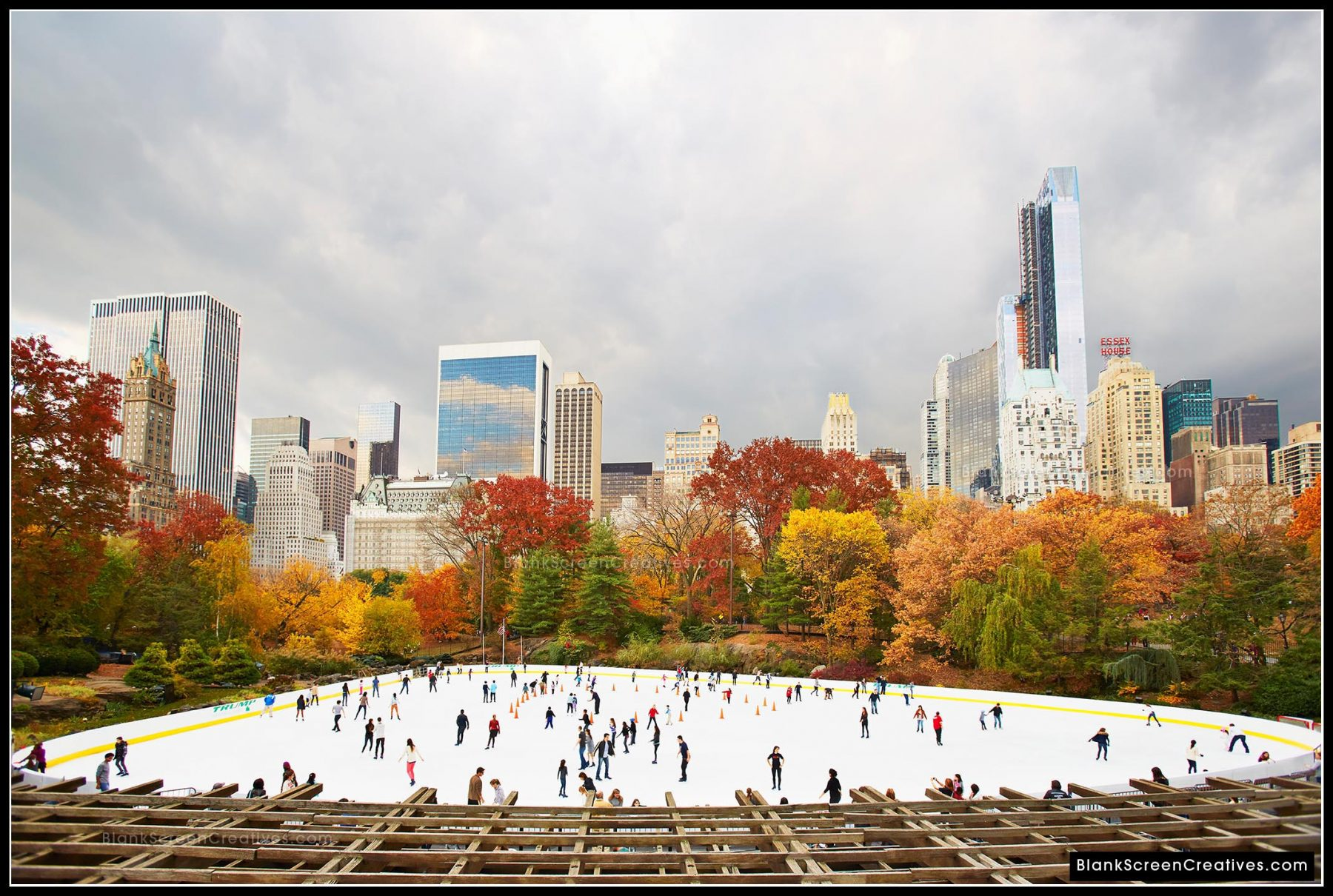 Central Park in fall, Wollman Rink