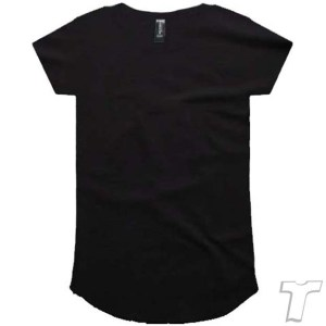 CB Clothing Co Ladies L2 Curve T-Shirt BLACK