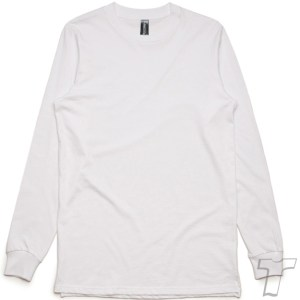 CB Clothing Co Men M6 Long Sleeve T-Shirt White