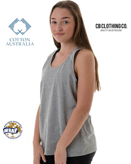 CB Clothing Co Ladies L4 Racerback Singlet