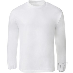 QUOZ Men Brand Long Sleeve Tee White Front