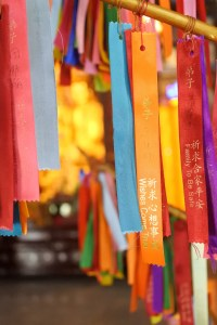 Wishing Ribbon in Kek Lok Si Temple
