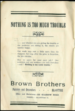 1925 Brown Brothers Advert