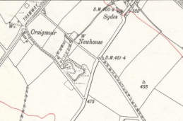 1897 Map showing Auchentibber tramway