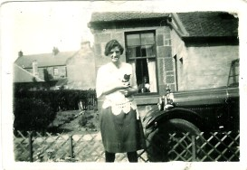 1928 Mary Danskin in back garden