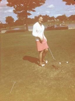 1969 Mother Janet Veverka (nee Duncan) at pitch n putt