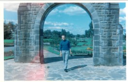 1969 Joe at Cowan Wilson arch