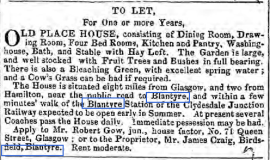 1849 advert in Herald