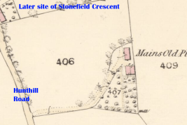 1859 map of Mains Old Place