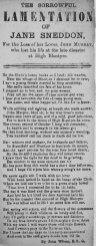 1877 Lamentation of Jane Sneddon