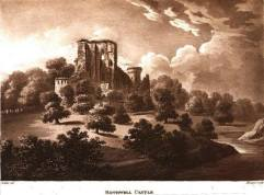 1799 Bothwell Castle from Blantyre Priory by Jean Claude Nattes