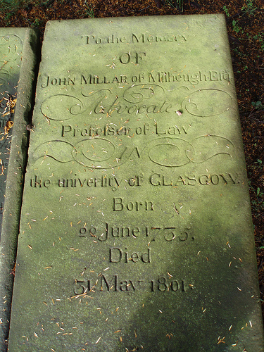 1801 John Millar of Milheugh dies