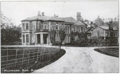 1915 Milheugh House, Blantyre Postcard (PV)