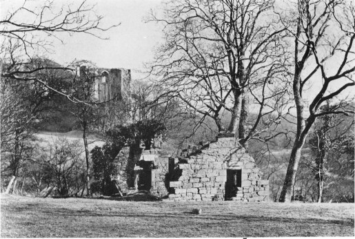 1921 Blantyre Priory with Bothwell Castle in background
