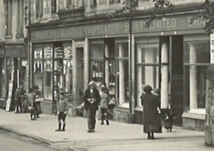 1927 September Main Street showing co-op (PV)