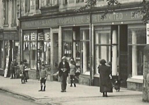 1927 September Main Street showing co-op (PV)