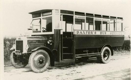 1925 Baxters Bus, Glasgow Road