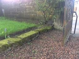 1777 stone lintol now kerbstone Old Parish (PV)