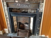 2014 July. The Hoolets fireplace gets renovated (PV)