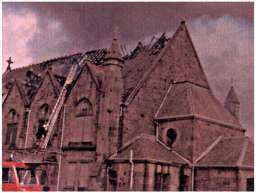 s church after fire 1979