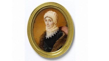 1812 Portrait miniature of Catherine, Lady Blantyre, dated 1812, watercolour on ivory, painted by William John Thomson, RSA. (1771-1845).