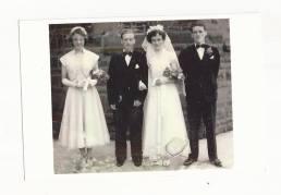 1952 Bobby & Helen Ferguson wedding day St Josephs