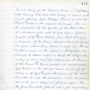 1907 School record blantyre