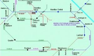1930 Train route blantyre