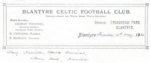 1932 Blantyre Celtic