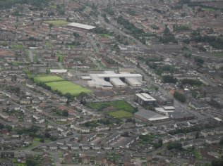 2010 Aerial photo courtesy of Changing Places, taken by Brian Young's son on a training flight
