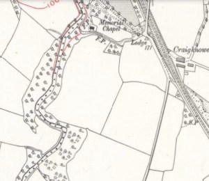1910 Cochranes chapel map