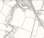 1910 Map of Cochranes Chapel, Blantyre, Calderglen Estate
