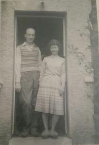 1957 Tom & Jean Orr at Morven Ave, shared by A. Orr.
