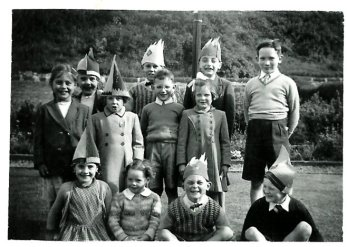 1953 Coronation Party Blantyre. Janet Duncan in middle right.
