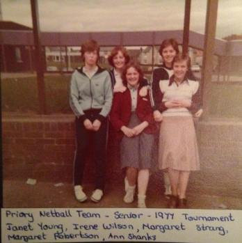 1977 Blantyre High School Priory Netball Team by Margaret Farmer