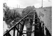 1977 walkway on clyde railway bridge