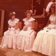 1978 Blantyre Gala day. Queen Nancy Gilchrist, Karen Bell and Carol Callaghan