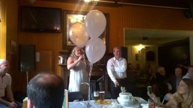 2015 Arlene and James Green 06 06 15 at Hoolets. Silver Wedding.