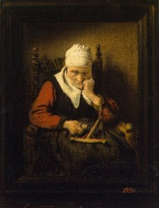Old-Woman-Spinning