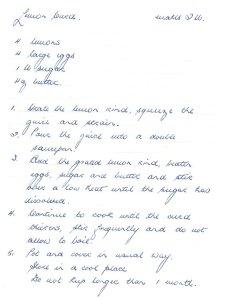 1970 recipe for Lemon curd