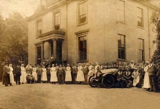 c1915 Caldergrove House during WW1 as a hospital