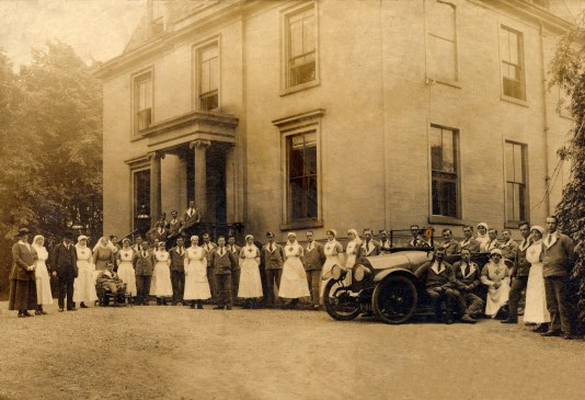 c1915 Caldergrove House during WW1 as a hospital