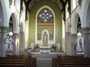 The inside of St Joseph's Church