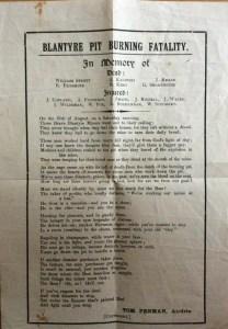 1930 auchinraith pit poem