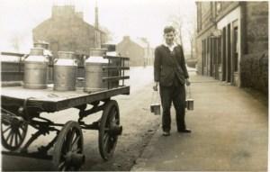 c1947 Arthur Rochead delivering milk