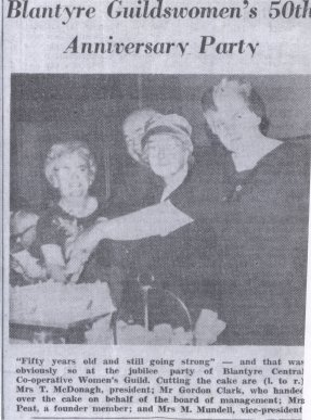 1953 Co-op Women's Guild. Sarah Peat in middle